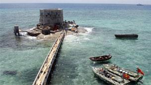 有主权归属争执的南中国海