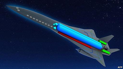 imagen artística del futuro avión ZEHST