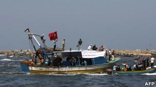"""احتفال في غزة بذكرى الهجوم على """"أسطول الحرية"""""""