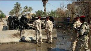موقع انفجار في العراق