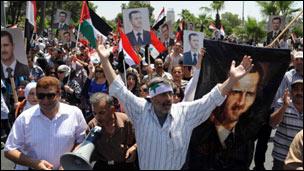 مسيرة تأييد للأسد