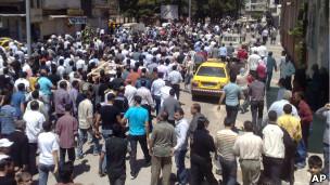 مظاهرات للمعارضة في حمص