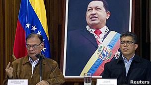 Rueda de prensa en el Palacio de Miraflores