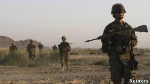 قوات امريكية في قندهار جنوبي أفغانستان
