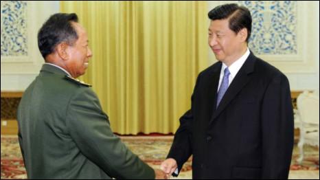 Hai ông Tea Banh và Tập Cận Bình