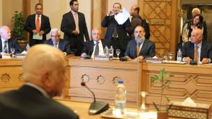 لقاء وزير الخارجية المصري وفد اسرائيلي