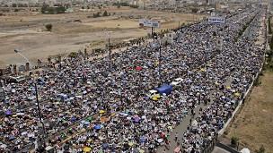 مسيرات حاشدة في اليمن