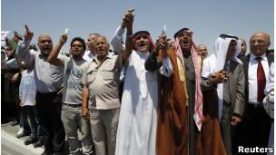 متظاهرون معارضون اردنيون
