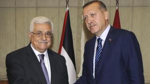 محمود عباس مع طيب رجب أردوجان