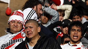 Hinchas de River Plate.