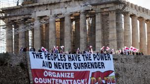 Manifestación en Acrópolis