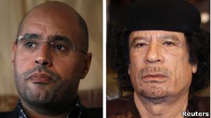 القذافي ونجله
