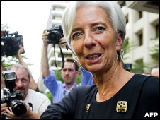 Cựu Bộ trưởng tài chính Pháp, bà Christine Lagarde, v