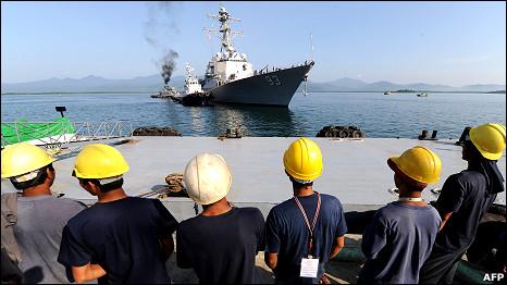 Tàu USS Chung-Hoon ngoài khơi Philippines tuần này
