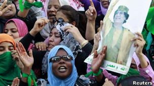 مظاهرات مؤيدة للقذافي