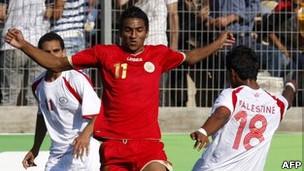 مباراة المنتخبين البحريني والفلسطيني