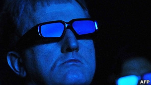 Usuario con lentes 3D