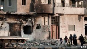 آثار قصف على مصراتة