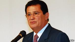 Alfredo Nascimento fala durante transmissão de cargo, em janeiro de 2011. Foto: Renato Araújo/ABr