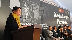 Zaida Mandujano, secretaria del Migrante de Michoacán, México