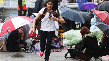 Penggemar Harry Potter di Trafalqar Square