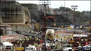 Obras de ampliación en el Canal de Panamá