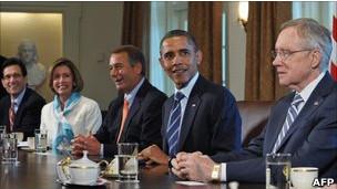 لقاء أوباما بقادة الكونغرس