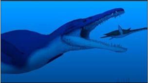 Model pliosaurus yang direka ilmuwan