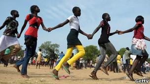 Crianças em Juba, no Sudão do Sul. Getty