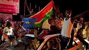 Celebración de independencia en Sudán del Sur.