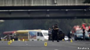 Escena asesinato Facundo Cabral