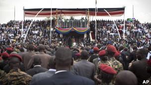 Cerimônia de posse do presidente do Sudão do Sul (AP)
