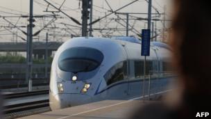 Trem de alta velocidade na China. AFP
