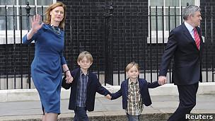 Gordon Brown dan keluarganya