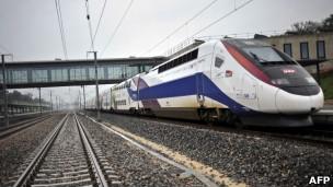 Trem de alta velocidade na França. AFP
