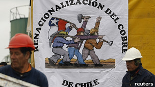 Trabajadores de Codelco en huelga
