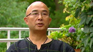 廖亦武在德國柏林接受BBC採訪
