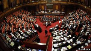 vista del parlamento italiano