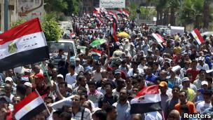 مظاهرات في الإسكندرية تطالب بمحاكمة علنية لمبارك