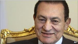 الرئيس المصري المخلوع، حسني مبارك