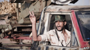 قوات المعارضة الليبية في البريقة