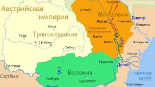 Карта Прутского похода Петра I, 1711г.