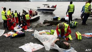 ضحايا حادث إطلاق النار في جزيرة أوتويا