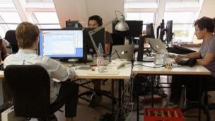 Empleados en oficina