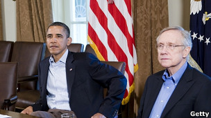 Barack Obama y Harry Reid