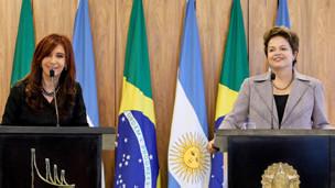 A presidente da Argentina,. Cristina Kirchner, e a presidente Dilma Rousseff (Roberto Stuckert Filho/ABr)