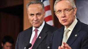 هری رید (راست) چاک شومر (راست)- سناتورهای دموکرات