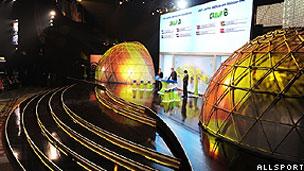 Palco grandioso tinha cúpula giratória para atrações musicais (Allsports)