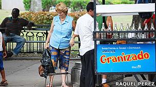 Vendedor ambulante. Foto: Raquel Pérez