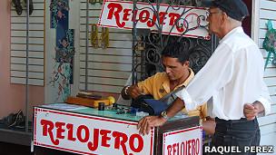 Relojero. Fotos: Raquel Pérez